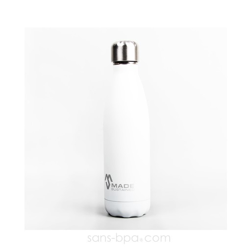 Cabosse - Bouteille isotherme 100% inox 500ml GLACIER - MADESUSTAINED