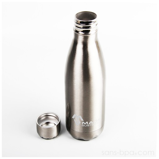 Cabosse - Bouteille isotherme 100% inox 500ml INOX - MADESUSTAINED