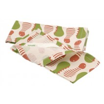 Lot 2 serviettes Set coton recyclé PAPILLONS