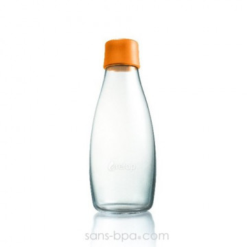 Gourde verre 500 ml ORANGE