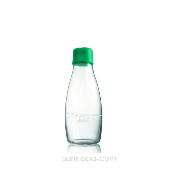 Gourde verre 300 ml GREEN
