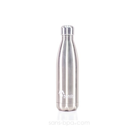 Bouteille isotherme 100% inox 500ml - Made Sustained