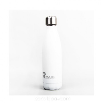 Bouteille isotherme 100% inox 500ml AZUR - Made Sustained