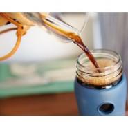 Gourde verre 350 ml Collection Café - Bleu
