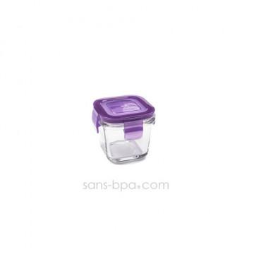 Contenant verre Wean Cube 120ml - Framboise