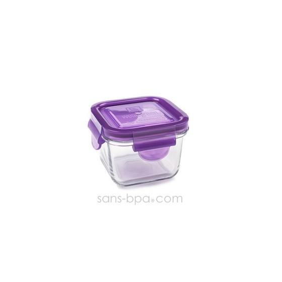 Contenant verre Snack Cube 210ml - Framboise