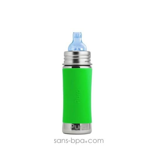 Biberon inox 325 ml anti-fuite