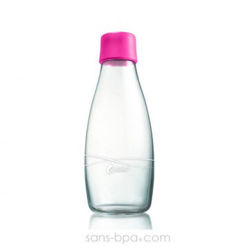 Gourde verre 800 ml - MAGENTA
