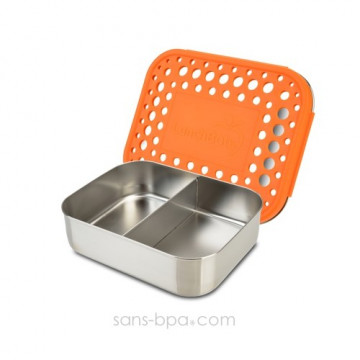 Boite compartiment 100% inox DUO ORANGE - DOTS