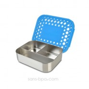 Boite 3 compartiments 100% inox TRIO AZUR DOTS