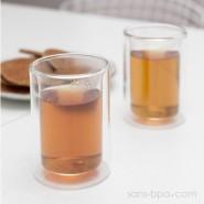 Lot 2 verres à thé double paroi