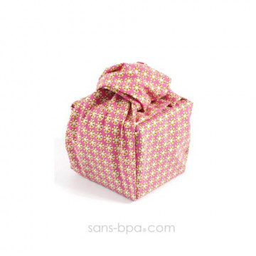 Pochette cadeau tissu Bio - Smart Vert