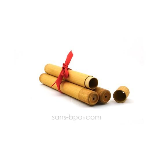 Pack 3 étuis bambou