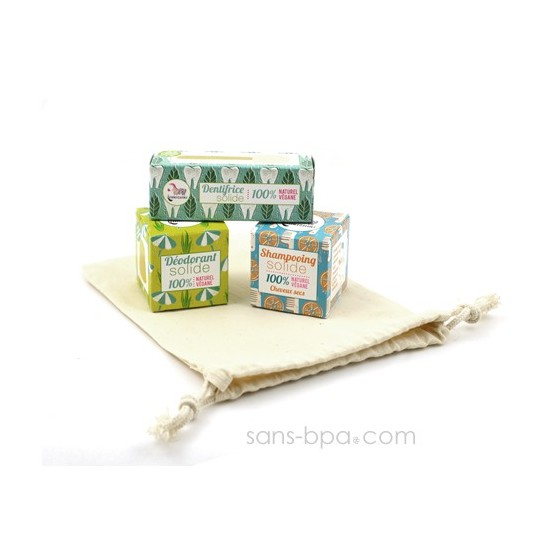Pack TRIO Les p'tits solides Déo + Dentifrice + shampoing Normaux