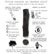 Bouteille filtrante Verre 650ml EAU GOOD VERRE - Black