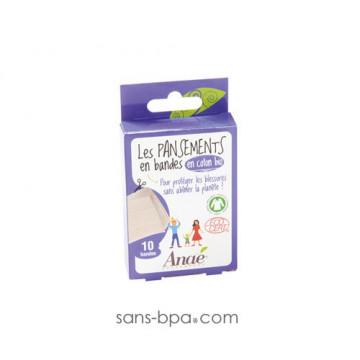 Pansement coton bio - 10 bandes