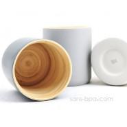 Mug bambou 350 ml LY - BLANC