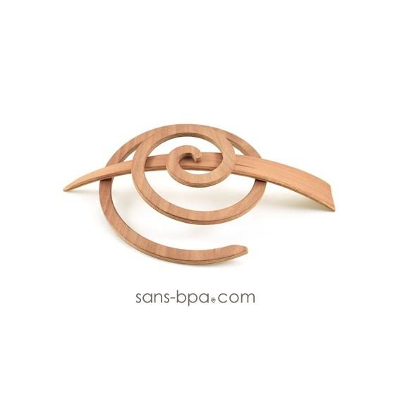 Pic à cheveux bois - Spirale Nature