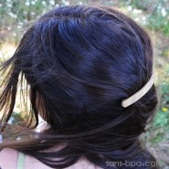 Barrette à cheveux bois - Basic