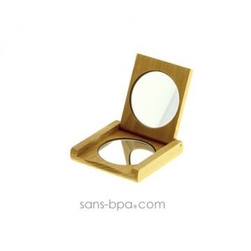 Miroir de poche bois - Anaé