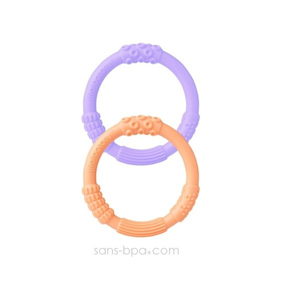 2 anneaux de dentition LILA-ROSE