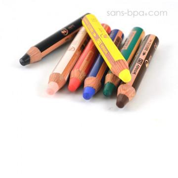 Crayon marqueur bois 3 en 1 - Woody