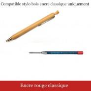 Recharge stylo bois - Encre classique 3000m