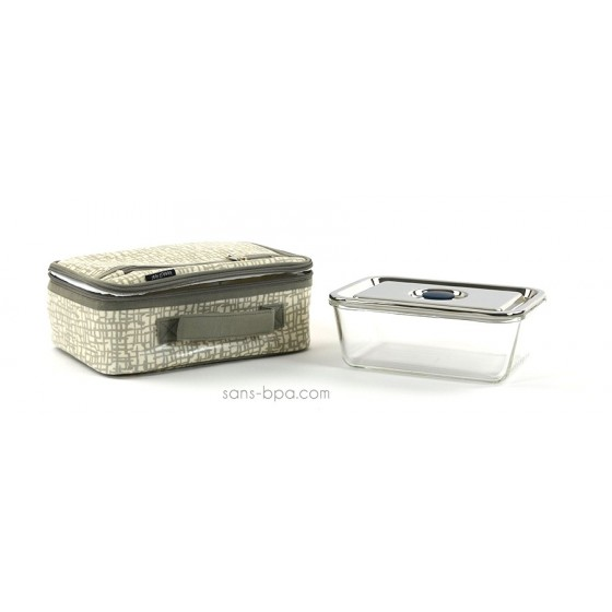 Pack Lunchbox Mesh + Boite verre rectangle 1600ml Onyx