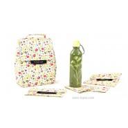 Pack Sac isotherme Lunchbag Bloom + Gourde inox 600ml Parsley + Bundle Bloom