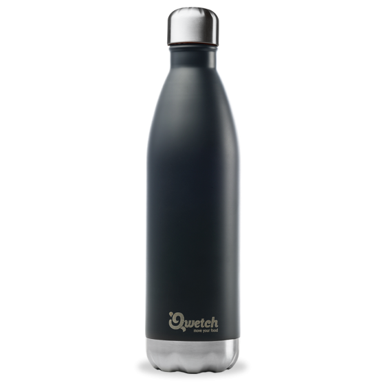 Bouteille isotherme inox BLACK 750 ml