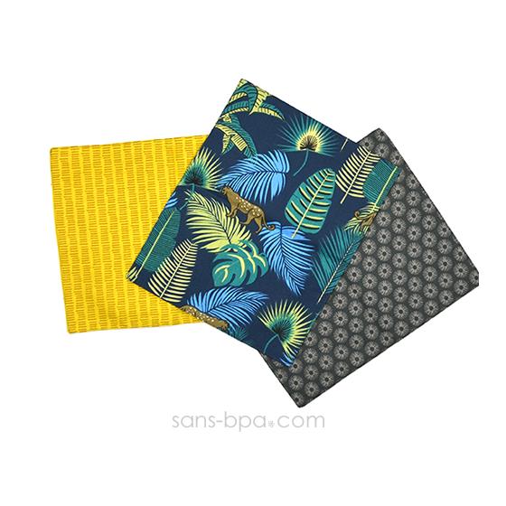 Lot 3 Mini-serviettes set coton Bio - Présent Durable