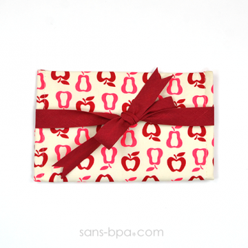 Pochette Mini Cadeau FRUITS - ruban Rouge