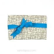 Pochette Mini Cadeau MESH - ruban Bleu