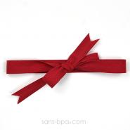 Ruban coton biais - Rouge