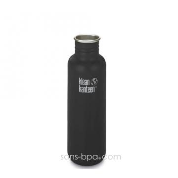 Gourde inox 800 ml NOIR mat * COAT *