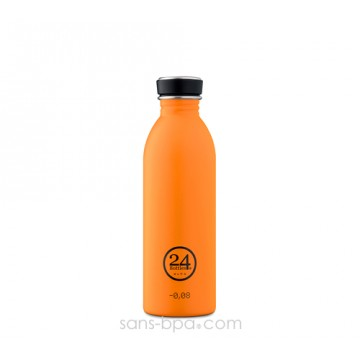 Gourde inox 500 ml URBAN - ORANGE