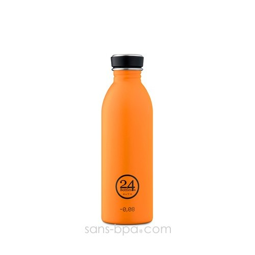 Gourde inox 500 ml Orange