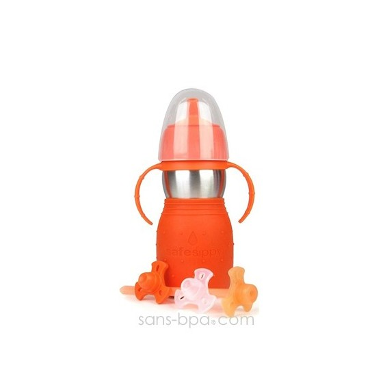 Safe Sippy anti-fuite 330ml ROUGE