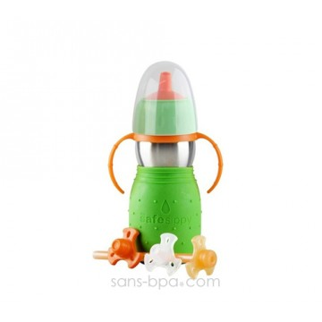 Gourde anti-fuite Safe Sippy 2 verte de Kid Basix