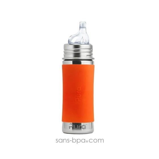 Biberon anti-fuite inox 325 ml - Green
