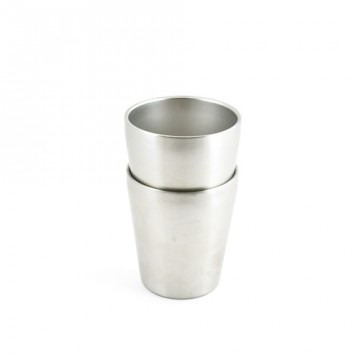 Lot 2 P'tites timbales inox isolé 200ml