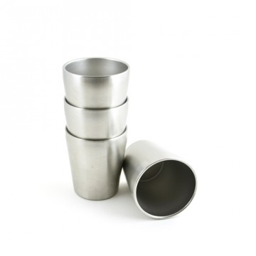 Lot 4 P'tites timbales inox isolé 200ml