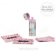 Pack Gourde inox 500 ml Pink 24 Bottle + Bundles Coeurs