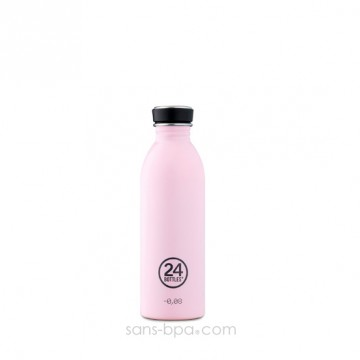 Gourde inox 500 ml URBAN - CANDY PINK