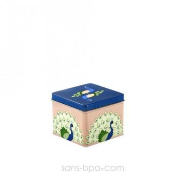 Boite métal cube HIBOU PRUNE