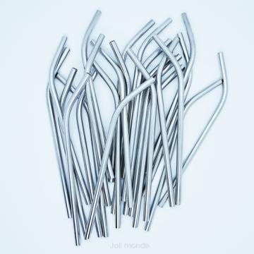 1 paille inox ~ Modèle COURT