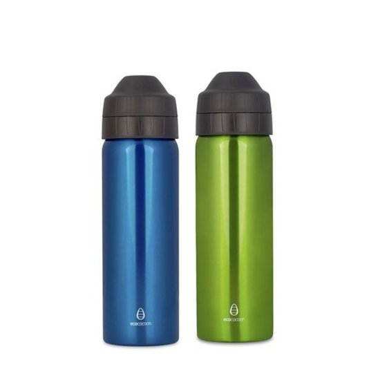 Pack promo - 2 gourdes 600 ml GREEN & TOPAZE - Ecococoon