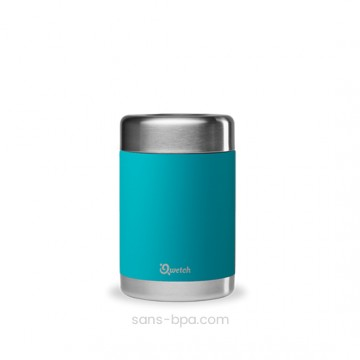 Boite repas isotherme 100% inox TURQUOISE - 500 ml