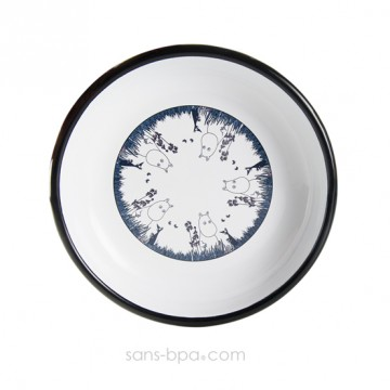 Assiette fer émaillé - Moomin Bleu