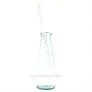 Paille en verre droite - longue - fine . La Transparente